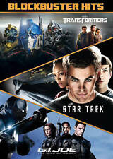 Blockbuster Hits  - GI JOE +  TRANSFORMERS + STAR TREK - 3 DVD SET