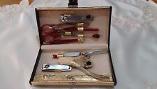 Set Trousse manicure da borsetta color oro idea regalo