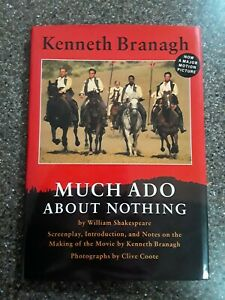 RARE Signed by KENNETH BRANAGH of Screenplay Much Ado About Nothing Shakespeare