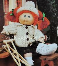 Knitting Pattern * CABBAGE PATCH DOLLS CLOTHES * Aran tenue * Cardigan & HAT