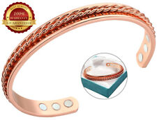 Copper Magnet Bracelet Double Twisted Rope Arthritis Pain Cuff Bangle Wristband
