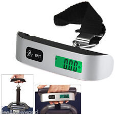 50kg LCD Electronic Scale Hand Carry Luggage Digital Weighing Device Thermometer