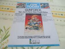 >> GUNFORCE GUN FORCE IREM ARCADE ORIGINAL USA HANDBILL FLYER CHIRASHI! <<