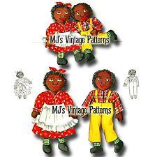 Vintage Sambo & Miranda Stuffed Dolls Pattern