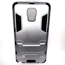 Samsung Galaxy Note 4 Grey Black Full Body Protect Kickstand Case NIP