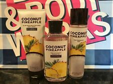 Bath & Body Works COCONUT PINEAPPLE Fragrance Mist Body Cream Shower Gel X3