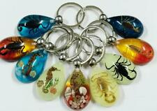 18 PCS lots popular insect scorpion mix style magic fashion key-chains NG