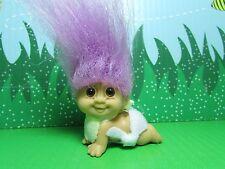 CRAWLING BABY - Russ Troll Doll - NEW IN ORIGINAL WRAPPER - Pastel Purple Ha