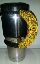Paracord Handle for 40oz, 30oz or a 20oz Yeti, Rtic, & Ozark Rasta Color Pattern