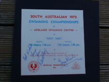 1975 AUST SWIMMING CHAMPS ADVERT. SIGNED BY BREASTROKER  GREG BUSH AND DAVID