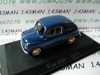RBA32G voiture 1/43 Italie IXO : FIAT 600 1957