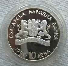 1999 Bulgaria Silver Proof 10 Leva