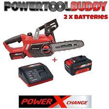"""Heavy duty einhell 18V lithium sans fil 12"""" tronçonneuse scie & 2 batteries chargeur"""