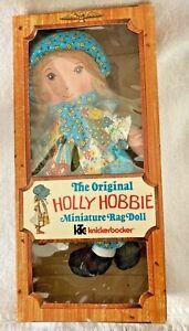 Holly Hobbie Miniature Rag Doll Knickerbocker Box Vintage Hobbie NRFB