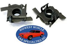 Ford Mustang 5/16-18 Fender Hood Adjuster Leveler Rubber Bumper Cage Nut 2pcs TP