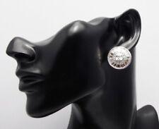 Swarovski Crystal Silver Stud Earrings in a Large Clear Sunburst Design Buy Zest