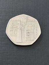 50p Coin 2003 Suffragette WSPU Give Women The Vote FREEPOST
