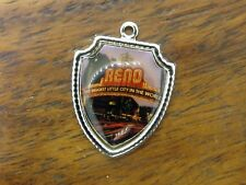 Vintage silver RENO THE BIGGEST CITY IN THE WORLD NEVADA STATE SHIELD charm #E13