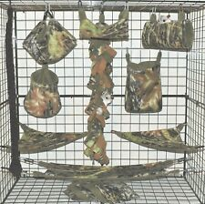 Mossy Oak Breakout* 15 PC Sugar Glider Cage set * Rat * double layer Fleece