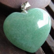 1pcs/lot heart Aventurine Silver Beads Pendants Wholesale Gemstone Chakas