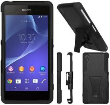 AMZER Rugged Double Layer Hybrid Kickstand Case Cover For Sony Xperia Z2 - Black