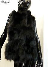 Gilet PELLICCIA di VOLPE nera black fox fur fourrure de renard fuchs Fuchspelz