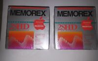 New 2SHD 20 Floppy Disks Memorex Vintage Formatted for IBM PC's Computers