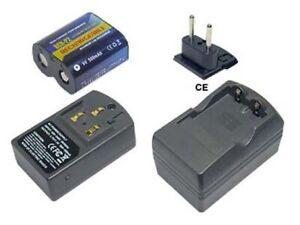PowerSmart Akku + Ladegerät für Panasonic CR-P2 CRP2P EL223AP