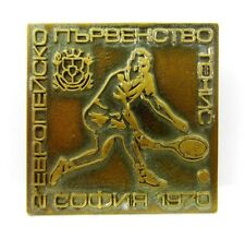 Vintage Old Оfficial pin badge 2nd European Tennis Championship 1970