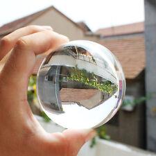 50mm + Stand Asian Quartz Pure Clear Magic Crystal Glass Healing Ball Sphere Hot