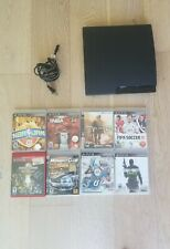 Sony PlayStation 3 PS3 Slim (CECH-3001A) 160GB Console + 7 Game Bundle
