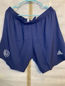 Adidas Kansas City Sporting MLS Soccer Shorts Size XL