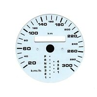 300km/h WEISS KOMBI EINSATZ TACHO AUTOMATIK GESCHWINDIGKEIT PORSCHE 911 993 964