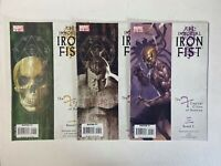 Immortal Iron Fist Lot 3 Comics: 8-10 1st Bride of Nine Dog Brother Fat Cobra