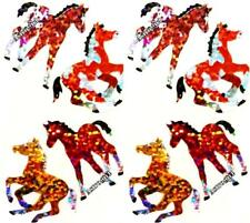 ~ Sparkle Horse Pony Cantering Yellow Brown Hambly Studio Glitter Stickers ~