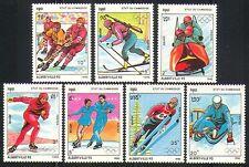 Cambodia 1990 Winter Olympics/Sports/Games 7v (b8495c)