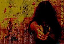Stampa incorniciata-Assassin tirando fuori una pistola 9mm (PICTURE Killer la morte morto ART)