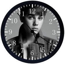 Justin Bieber Black Frame Wall Clock Nice For Decor or Gifts Z35
