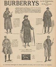 Y9426 Abbigliamento BURBERRYS - Pubblicità d'epoca - 1918 Old advertising
