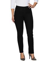 Isaac Mizrahi Live! Regular 24/7 Denim Straight Leg Jeans Color Black Size R6