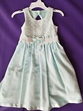 Bonnie Jean Mint Green size 6  sleeveless Easter spring dress