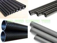 2pcs 3k Carbon Fiber Tube 21mm 22 23mm 24mm 25mm 26mm 27 28mm 29mm 30mm X 500mm