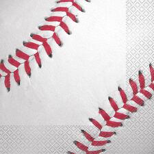 BASEBALL LUNCH NAPKINS (16) ~ Sports Birthday Party Supplies Serviettes MLB
