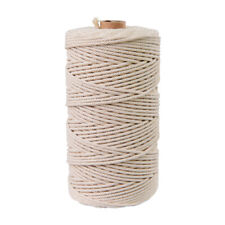 200m 3 mm Cotton Rope Cord for Macrame Hand Woven Gift Cake Packaging Decoration