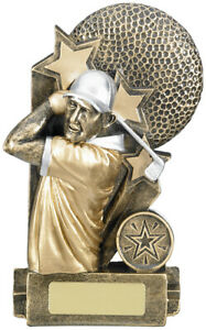 GOLF MALE AWARD 6.25in inc free postage + engraving
