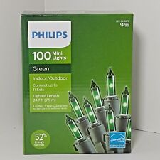 Philips 100 CT Mini String Lights Green Indoor Outdoor Christmas Patio St Pats