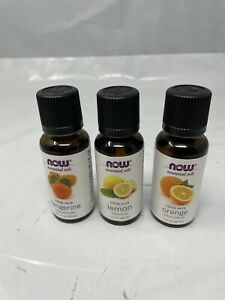 Now Essential Oils 3 Piece Set 30ml x 3 Orange, Tangerine, Lemon 2023