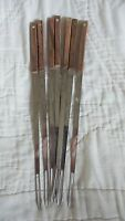 Vintage 12 Piece Mid Century WF Stainless Steel Fondue Forks Japan Colored Dots