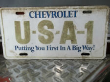 """Chevrolet USA-1 Putting You First In A Big Way"""" License Plate"""
