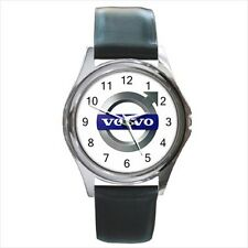 Volvo Car Automobile Logo #A leather metal watch
